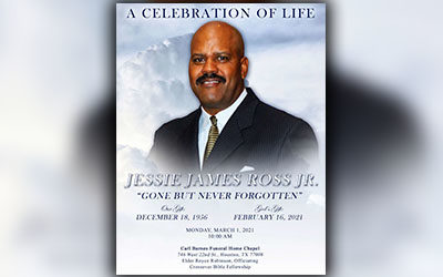 Jessie James Ross Jr. 1956-2021
