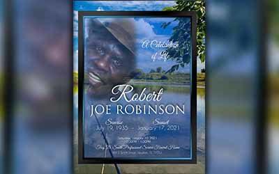 Robert Joe Robinson 1935-2021