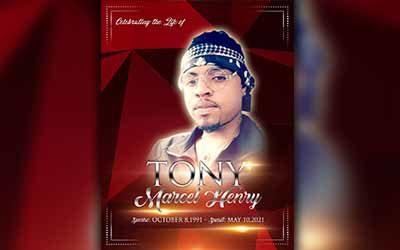 Tony Marcel Henry 1991 – 2021