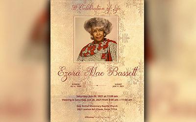 Ezora Mae Basset 1934-2021