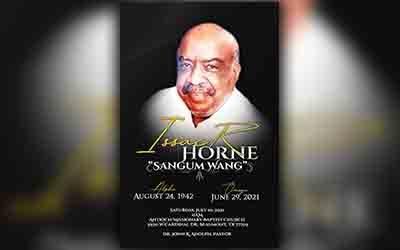 Isaac Horne Sangum 1942-2021