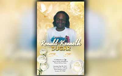 Ronald Kenneth Dugar 1955 – 2021