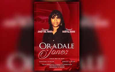 Ordale Jones 1959 – 2021